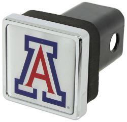 "Arizona Wildcats Trailer Hitch Receiver Cover - 2"" Hitches - Square - Chrome Plated"