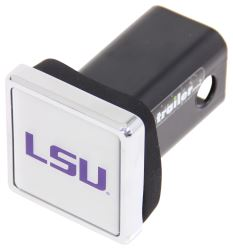 "LSU Tigers NCAA Logo 2"" Trailer Hitch Cover - Square, Chrome"