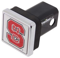 "North Carolina State Wolfpack NCAA Logo 2"" Trailer Hitch Cover - Square, Chrome"