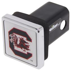 "University of South Carolina Gamecocks NCAA Logo 2"" Trailer Hitch Cover - Square, Chrome"