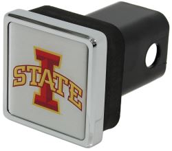 "Iowa State Cyclones Trailer Hitch Receiver Cover - 2"" Hitches - Square - Chrome Plated"