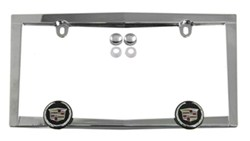 Cadillac License Plate Frame - Chrome Plated Metal