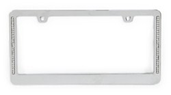 Neo Diamondesque License Plate Frame - Chrome