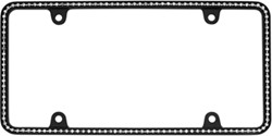 Diamondesque License Plate Frame - Matte Black/Clear