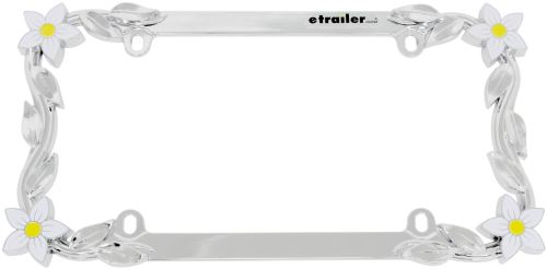 daisy license plate frame chrome plated metal