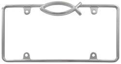 Ichthus License Plate Frame - Chrome