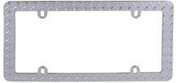 Diamond Plate License Plate Frame - Chrome