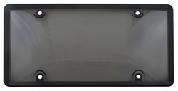 Combo License Plate Frame and Smoke-Tinted Shield - Black