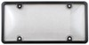 Tuf Combo License Plate Frame and Clear Shield - Black