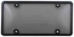 Tuf Combo License Plate Frame and Smoke-Tinted Shield - Black