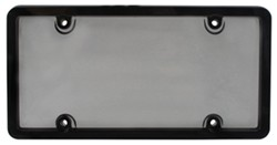 Ultimate Tuf Combo License Plate Frame and Smoke-Tinted Shield - Black