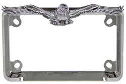 eagle motorcycle license plate frame chrome - Eagle License Plate Frame