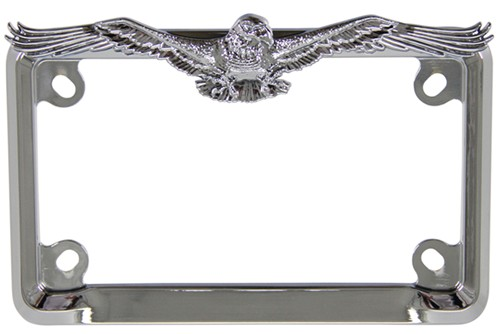 eagle motorcycle license plate frame chrome