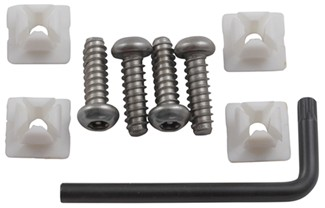 Star Pin Locking Fasteners For License Plates And Frames