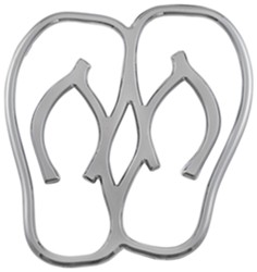 3d-Cal Hula Flops Vehicle Decal - Chrome