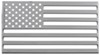 3d-Cal American Flag Vehicle Decal - Chrome