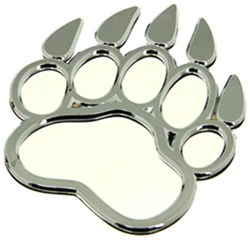 3d-Cal Bear Paw Vehicle Decal - Chrome Plated Plastic