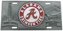 Alabama Crimson Tide Sports Plate - 3D License Plate
