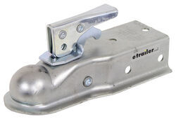 "Channel Tongue Trailer Coupler - Trigger Latch - Zinc - 1-7/8"" Ball - Bolt On - 2,000 lbs"