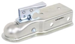 "Channel Tongue Trailer Coupler - Trigger Latch - Zinc - 2"" Ball - Bolt On - 3,500 lbs"