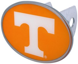 "Tennessee Volunteers 2"" NCAA Trailer Hitch Receiver Cover - Oval Face - Zinc"