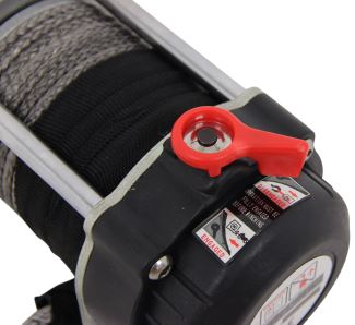 4 4//5 x 1 3//4 Hawse Fairlead Aluminum Anodized RED 2000-4000lbs and Black Rubber Winch Rope Stopper for 3//16 1//4 Synthetic Winch Rope Off-Road ATV UTV Truck 4x4