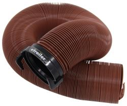"EZ Flush RV Sewer Hose with 3"" Bayonet Fitting - Bronze - Vinyl - 10' Long"