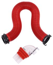 EZ Coupler RV Sewer Hose Kit w/ Swivel Fitting and 4-in-1 Clear Adapter - 10' Long Hose