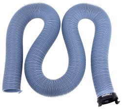 "EZ Flush RV Sewer Hose with 3"" Bayonet Fitting - Slate Blue - Vinyl - 20' Long"