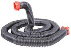 Dominator RV Sewer Hose Kit w/ Swivel Fittings and 4-in-1 Clear Adapter - 15' Long Hose