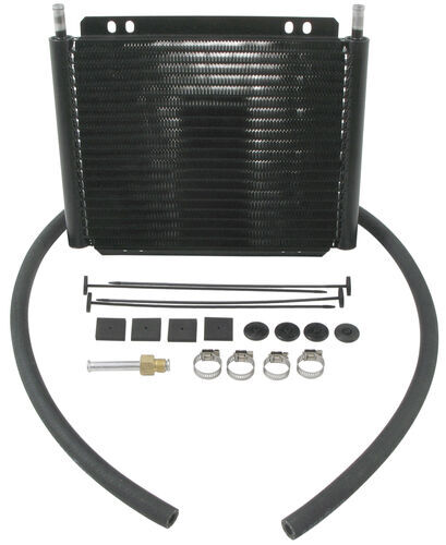 Derale Series 8000 Plate Fin Transmission Cooler Kit W Barb Inlets Class III Efficient