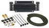 Derale Series 9000 Plate-Fin Transmission Cooler Kit w/ NPT Inlets - Class I -Extra Efficient
