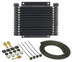 Derale Series 9000 Plate-Fin Transmission Cooler Kit w/ NPT Inlets - Class IV - Extra Efficient