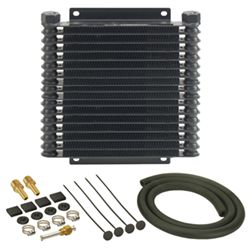 Derale Series 9000 Plate-Fin Transmission Cooler Kit w/ NPT Inlets - Class V - Extra Efficient