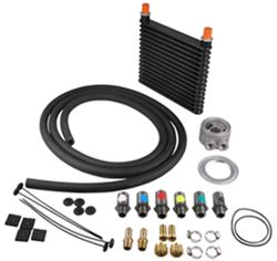 Derale Plate-Fin Engine Oil Cooler Kit w/ Adjustable Sandwich Adapter (Multiple Threads) - Class V