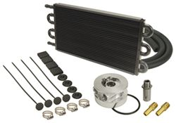 Derale Tube-Fin Engine Oil Cooler Kit w/ Sandwich Adapter (13/16-16 Threads) - Class III