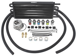 Derale Tube-Fin Engine Oil Cooler Kit w/ Adjustable Sandwich Adapter (Multiple Threads) - Class III