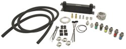 Derale Stacked-Plate Engine Oil Cooler Kit w/ Sandwich Adapter (Multiple Threads) - Class III