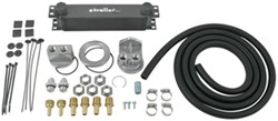Derale Stacked-Plate Engine Oil Cooler Kit w/ Spin-On Adapter (3/4-16 Threads) - Class III
