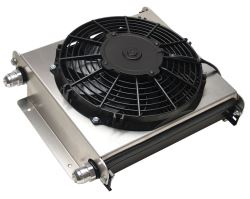 Derale Hyper-Cool Extreme Remote Cooler Assembly w/ Fan, -10 AN Inlets - Class V
