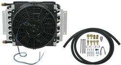 Derale 16-Pass Electra-Cool Remote Transmission Cooler Kit w/ Fan, 8 AN Inlets - Class V