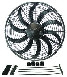 "Derale 14"" High-Output, Extreme Curved-Blade Electric Fan - 1,864 CFM"