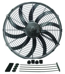 "Derale 16"" High-Output, Extreme Curved-Blade Electric Fan - 2,024 CFM"