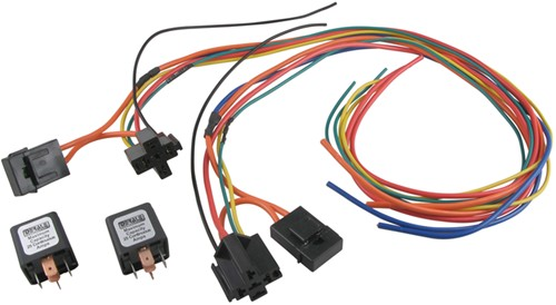 derale 40/60amp dual relay wiring harness for dual fan assembly