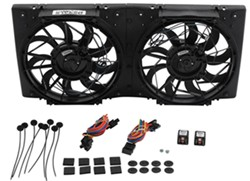 Derale High-Output, Dual Radiator Fan-and-Shroud Assembly - 1,360 CFM