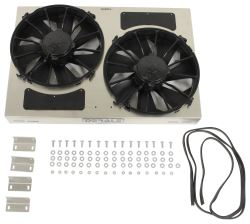 "Derale 25-5/8"" Dual High-Output, Electric Radiator Fan w/ Aluminum Shroud and Vents - 4,000 CFM"