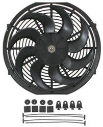 "Derale 14"" Dyno-Cool Curved-Blade Electric Fan - 1,230 CFM"