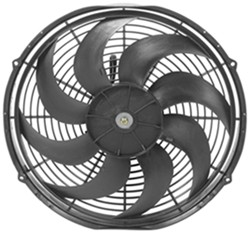 "Derale 16"" Dyno-Cool Curved-Blade Electric Fan - 1,980 CFM"