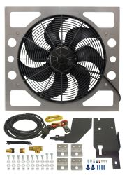 Derale Performance Electric Fan Kit for 1987-2006 Jeep Wrangler - 2,400 CFM