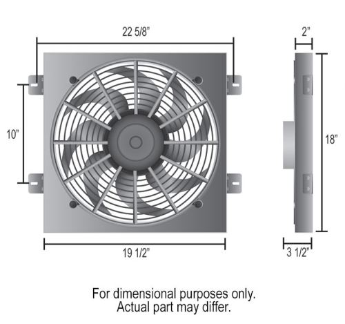 Derale D20161 direct fit Jeep Wrangler fan Dimensions